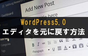 WordPress5.0 エディタ